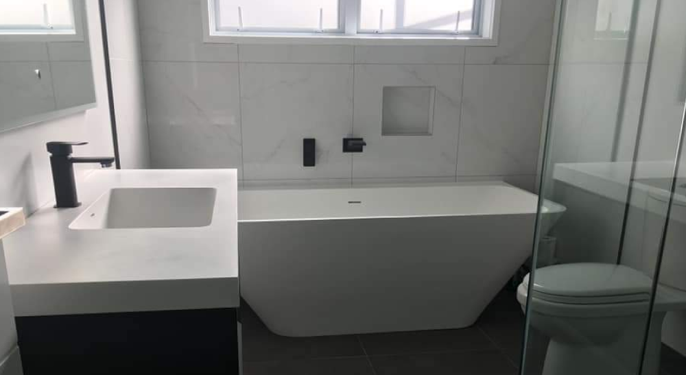 modern bathroom auckland with plumbing
